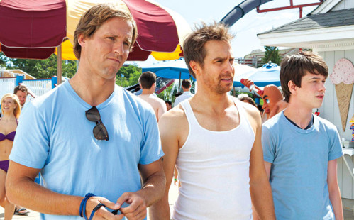Nat Faxon, Sam Rockwell, and Liam James in The Way Way Back