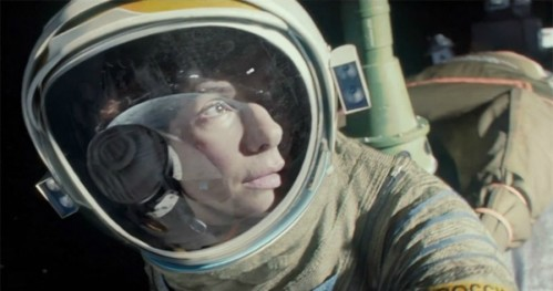 Bullock in Cuaron's Gravity