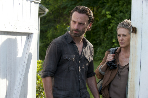 Rick and Carol in The Walking Dead.