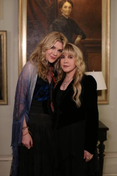 Lily Rabe as Misty Day with Stevie Nicks as herself.