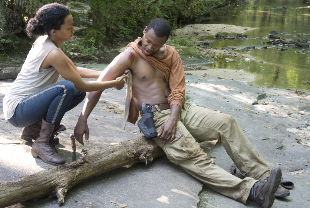 Help each other. Photo credit Gene Page/AMC.