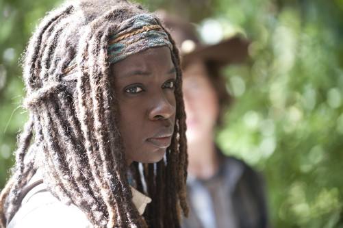 Michonne and Carl