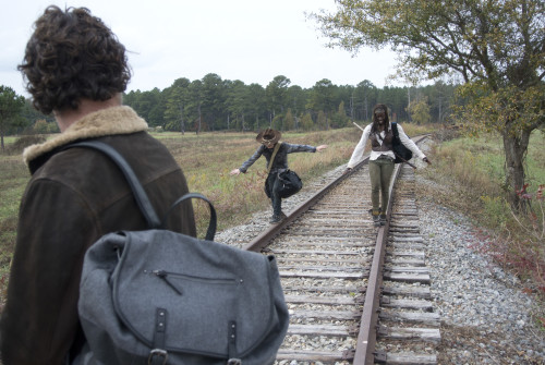 Rick, Carl, Michonne Walking Dead