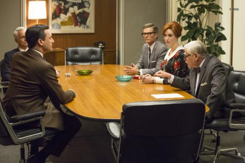Under scrutiny. Photo credit: Michael Yarish/AMC.