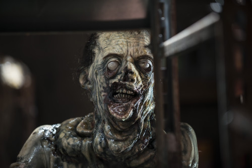 The slime zombies are a whole new level of gross for TWD. Photo credit Gene Page/AMC.
